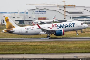 JetSMART detalla su plan de sostenibilidad con llegada de primer avión de su flota que emplea combustible ecológico