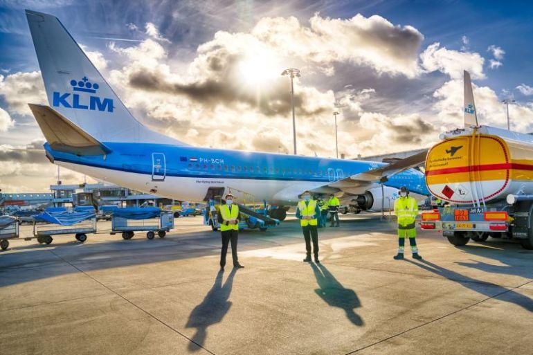 KLM, Shell y el gobierno holandés realizan el primer vuelo de pasajeros con queroseno sintético sostenible