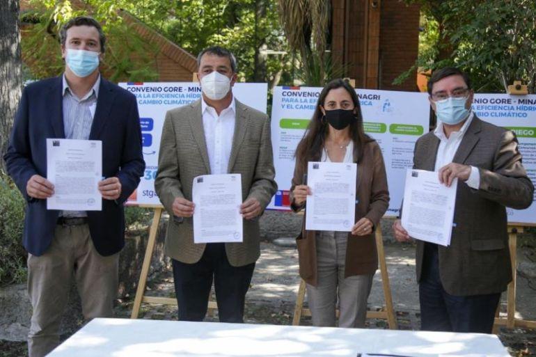 Gobierno Regional Metropolitano y Ministerio de Agricultura firman convenio para enfrentar escasez hídrica y cambio climático en la Región Metropolitana