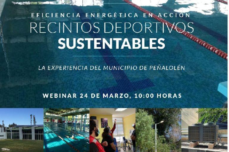 Webinar sobre el desarrollo de proyectos de eficiencia energética en base a experiencia práctica de recinto deportivo de Peñalolén