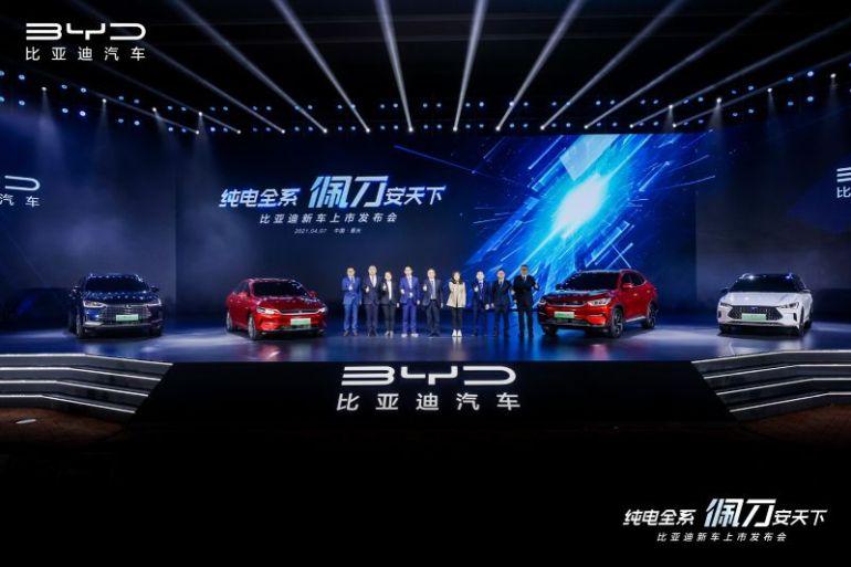 BYD anuncia que todos sus vehículos 100% eléctricos ahora vendrán con baterías Blade