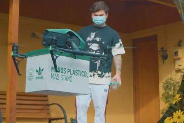 Menos plásticos, más Stans: adidas Originals implementó dron para incentivar el reciclaje en Chile