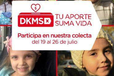 Fundación DKMS invita a sumarse a su Colecta Virtual para aumentar su registro de potenciales donantes