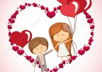 love concept with heart and cartoon couple design, vector illustration 10 eps graphic.
