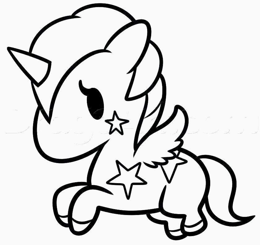 Dibujos Kawaii De Comida Para Colorear Bonito Colorear Unicornios