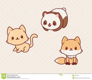 kawaii-animals-set-part-vector
