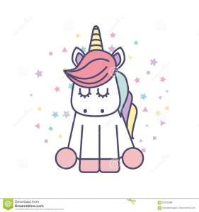 Dibujos unicornios Kawaii para colorear e imprimir