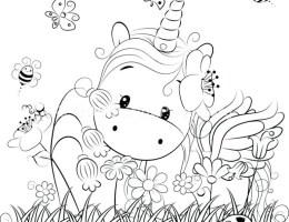 Dibujos Kawaii Para Calcar De Unicornios On Log Wall