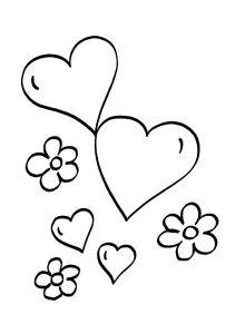 corazones-y-flores-dibujo-para-colorear-e-imprimir