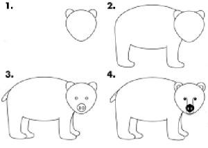 como-dibujar-un-oso-facil
