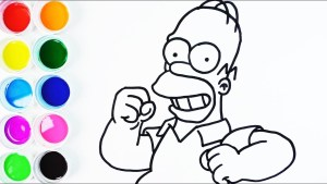 dibujo facil homero simpson