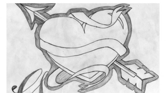 Dibujo de amor a lapiz faciles de hacer