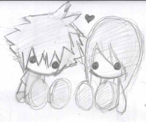 Dibujo de amor a lapiz para mi novio
