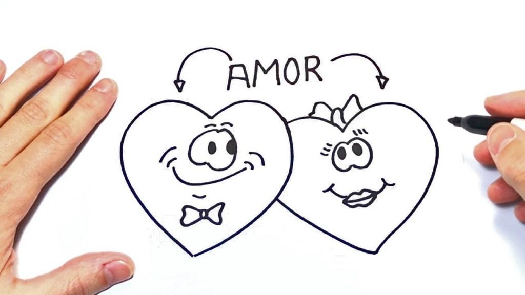Dibujos de amor a lapiz para mi novia en 3 d