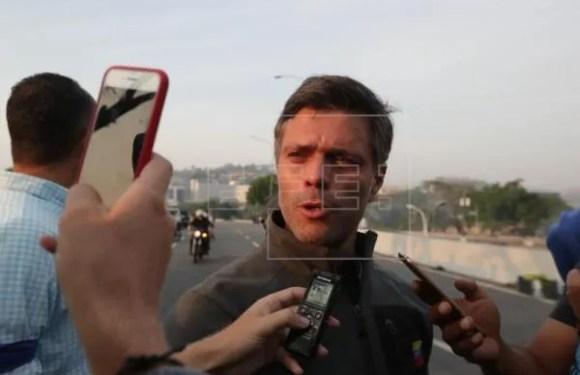Movimiento Militar Liberan al opositor venezolano Leopoldo López