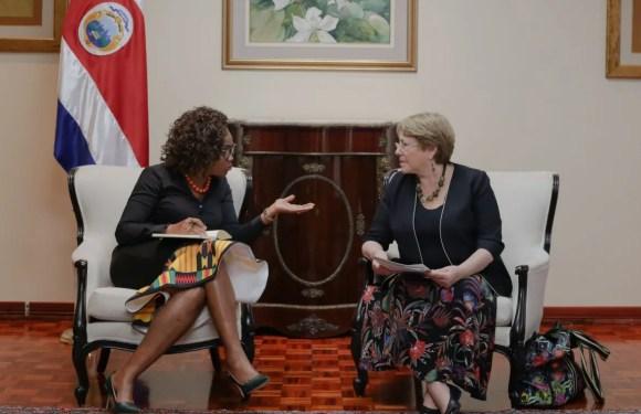 Costa Rica ofrece apoyo a Bachelet para impulsar agenda regional por los derechos de las mujeres