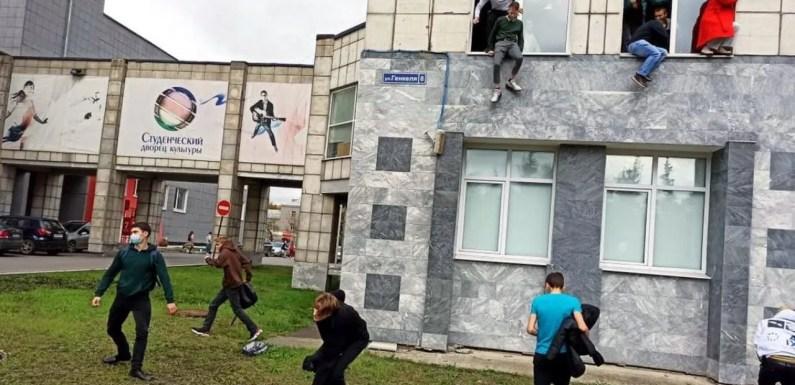 Joven abre fuego en centro educativo matando a 8 personas