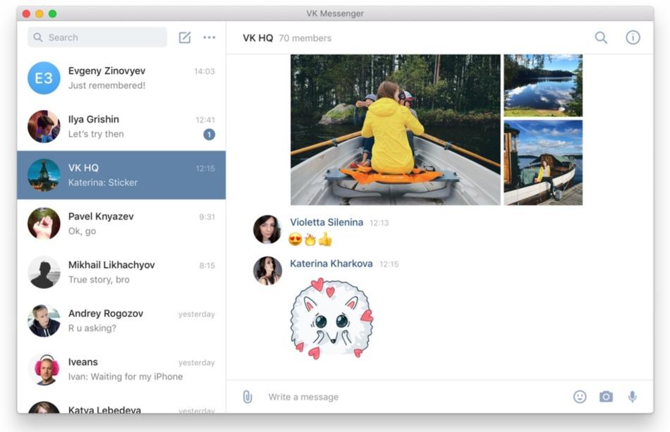 VK Messenger para Windows, Mac y Linux