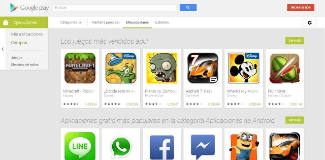 Renovada Google Play