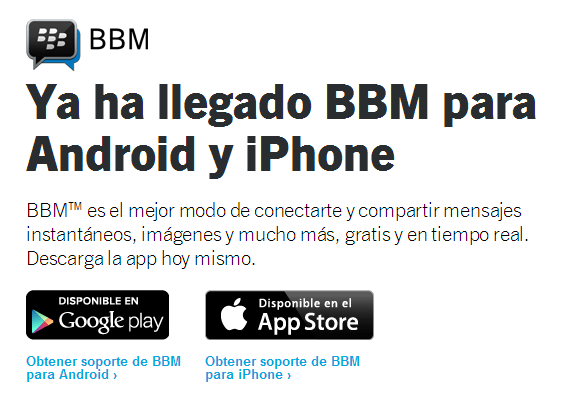 BlackBerry Messenger Android-IOS