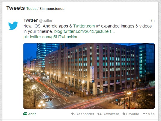 Tweets mas visuales