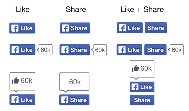 nuevo botón Me gusta de Facebook