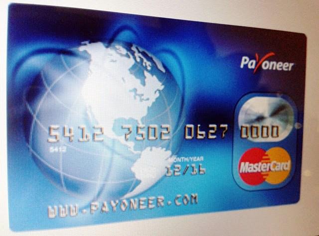 Tarjeta de débito Payoneer Mastercard prepagada