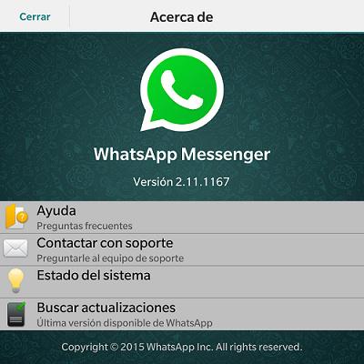 WhatsApp ultima version