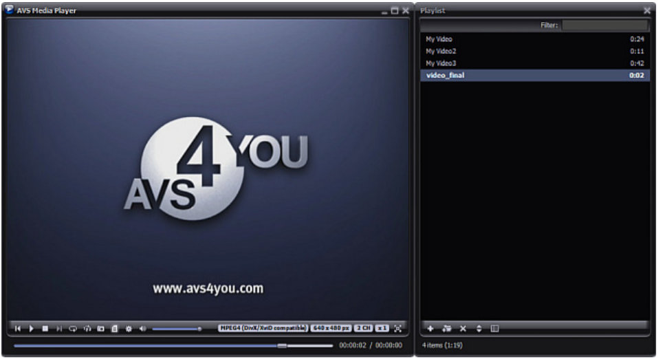 AVD media player