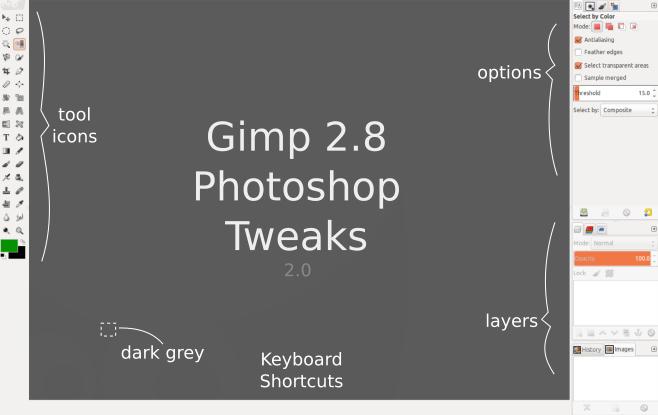 GIMP 2.8 Photoshop