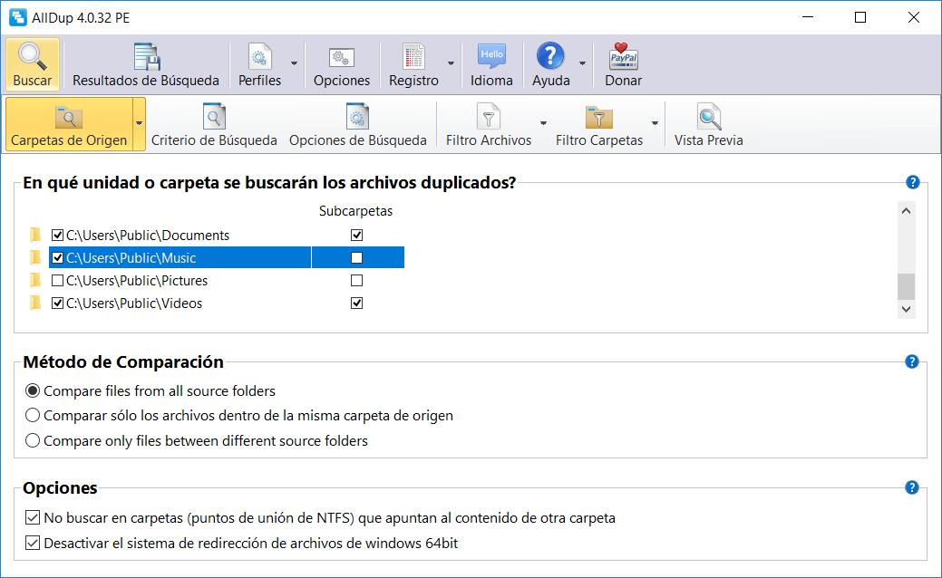 AllDup archivos duplicados