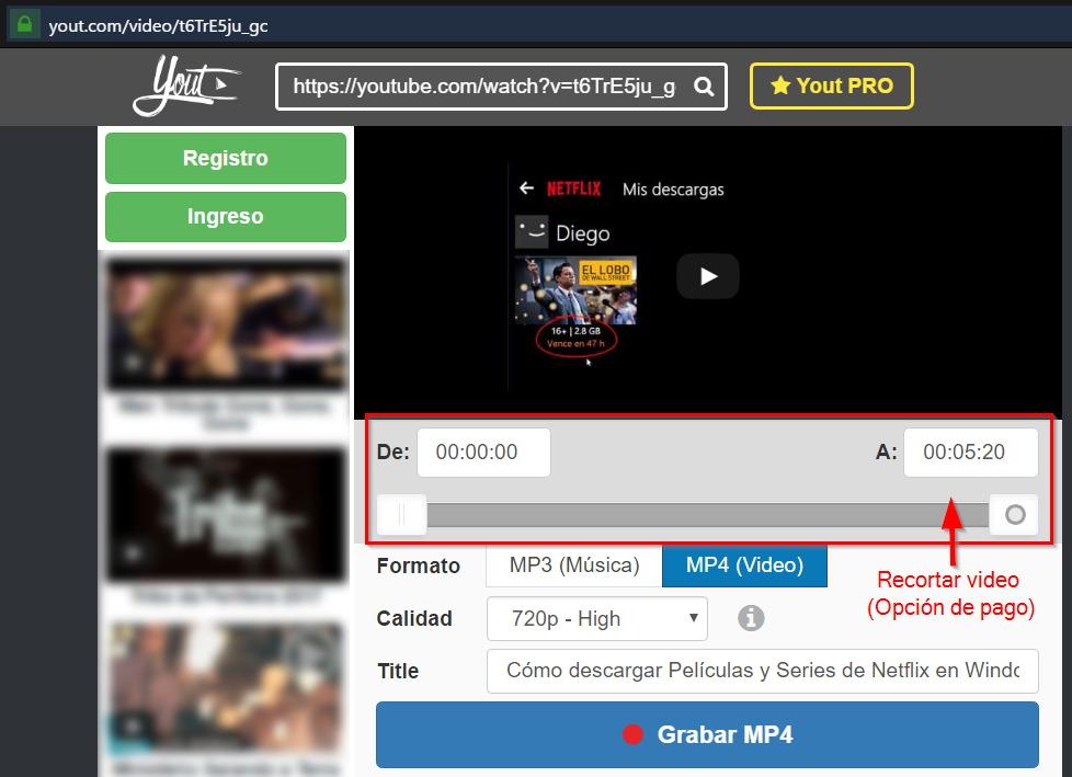 Descargar videos de Youtube en MP4