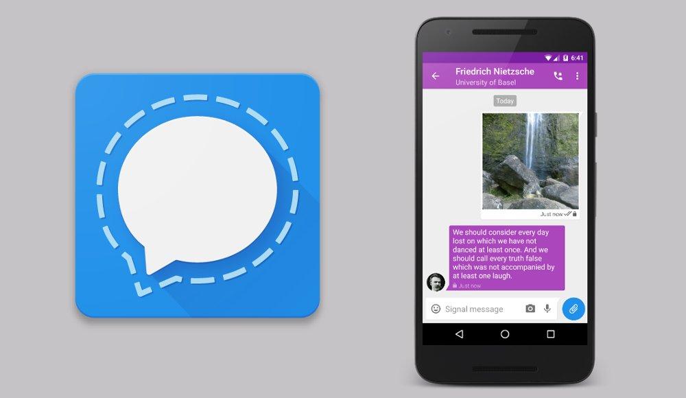 Signal aplicación de mensajería cifrada