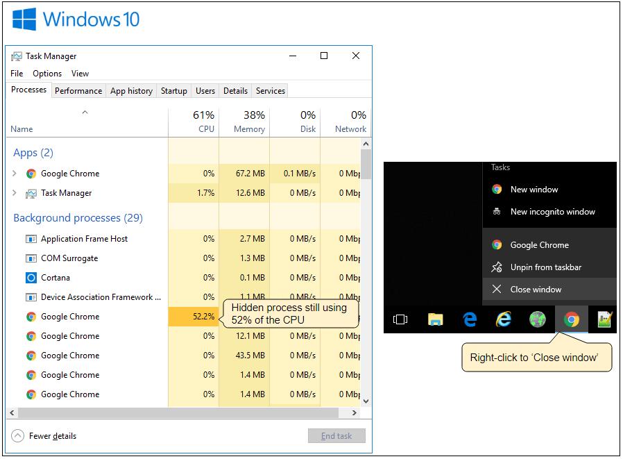 Consumo excesivo de CPU en Chrome