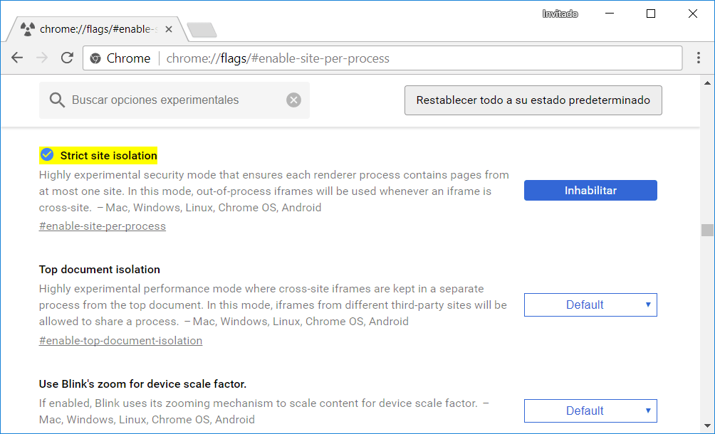 Chrome Site Isolation