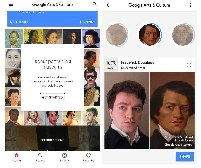 Google Arts Selfie Obra de Arte