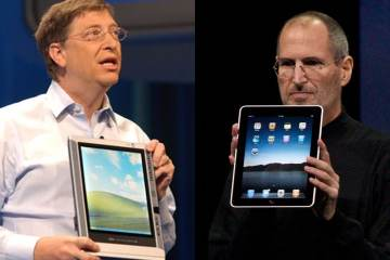 Microsoft primera tablet iPad