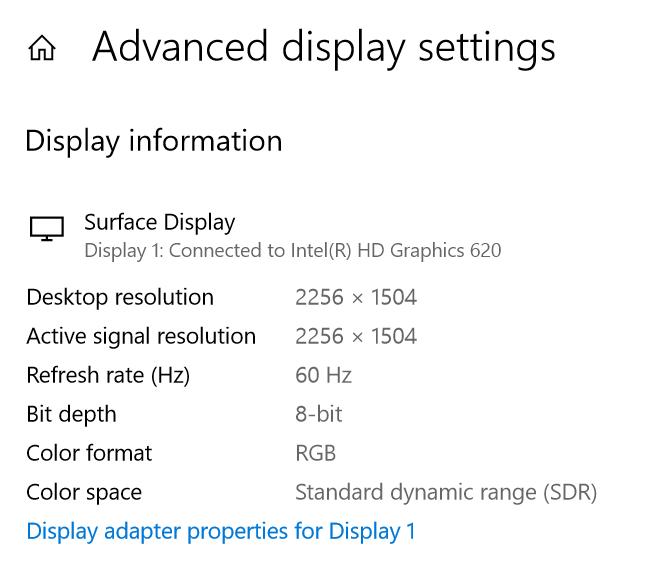 Configuración avanzada de pantalla
