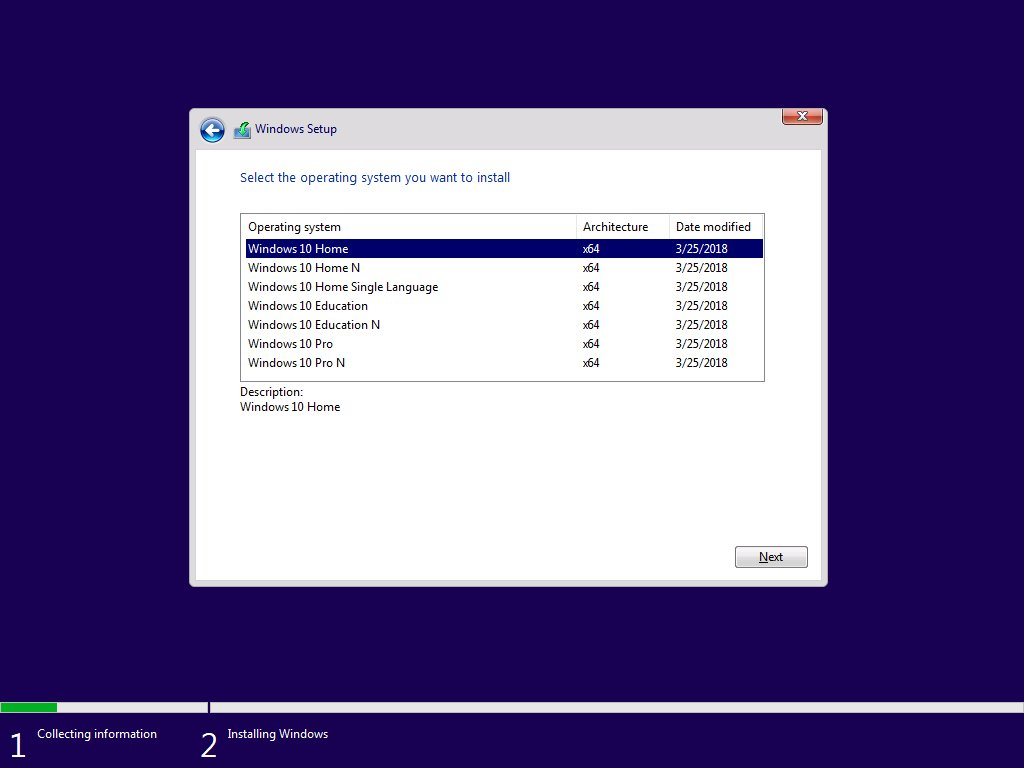 ISO de Windows 10 Redstone 4