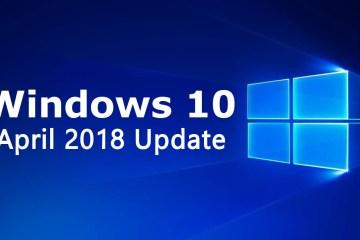 Windows 10 Redstone 4 April 2018 Update