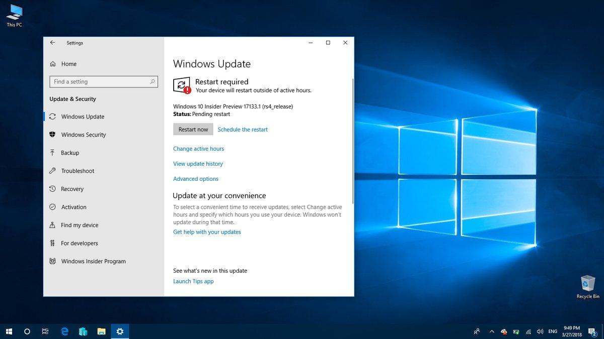actualizar a Windows 10 Spring Creators Update