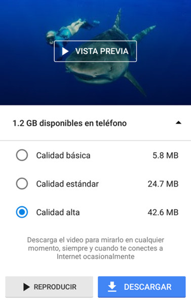 Descargar videos de Youtube en Android