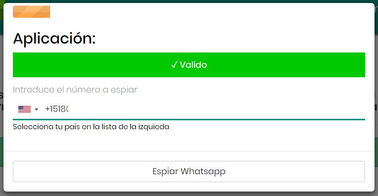 Número de WhatsApp a espiar