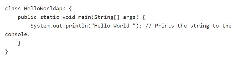 Hola mundo en Java