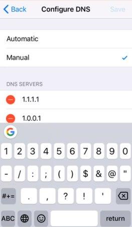 DNS para iOS