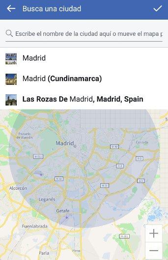 Buscar amigos en Facebook por ciudad
