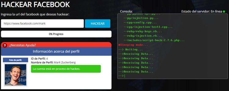 Hackear cuenta de Facebook gratis