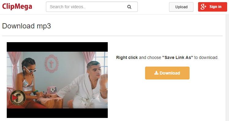 ClipMega descargar audio y video de Youtube pegando la URL.