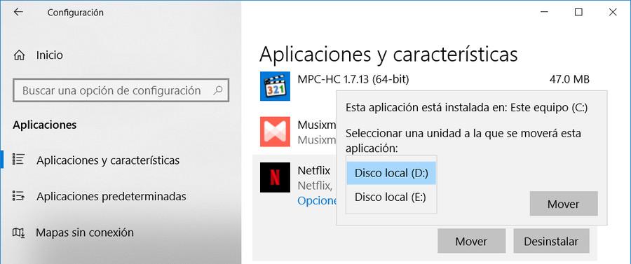 Cambiar la ubicación de las descargas de Netflix en Windows 10