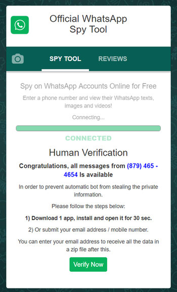 Official WhatsApp Spy Tool